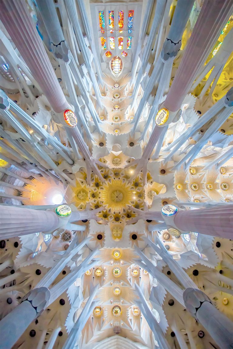Interior Celing of Sagrada Familia